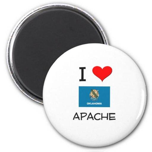 Amo Apache Oklahoma Imán Redondo 5 Cm