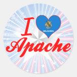 Amo Apache, Oklahoma Pegatina Redonda
