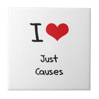 Amo apenas causas teja cerámica