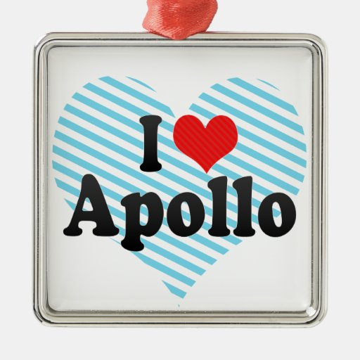 Amo Apolo Adorno Cuadrado Plateado