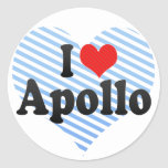 Amo Apolo Pegatina Redonda