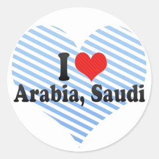Amo Arabia, saudí Pegatinas Redondas