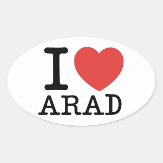 Amo Arad Pegatina Ovalada