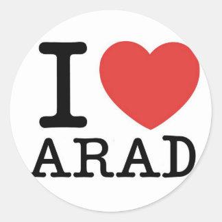 Amo Arad Pegatina Redonda