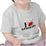 Amo arañas camisetas