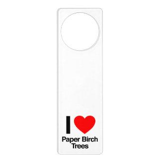 amo árboles de abedul de papel colgante para puerta
