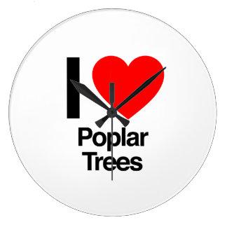amo árboles de álamo reloj de pared