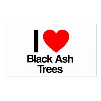 amo árboles de ceniza negra tarjetas de visita