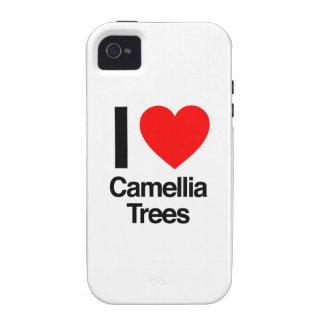 amo árboles de la camelia iPhone 4 fundas