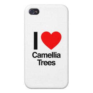 amo árboles de la camelia iPhone 4 carcasa