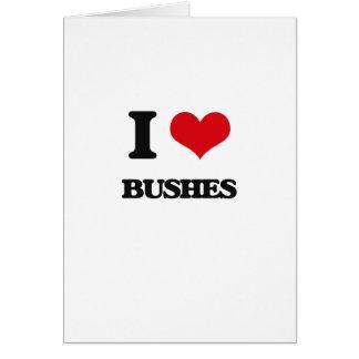 Amo arbustos tarjetas