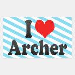 Amo Archer Rectangular Pegatina