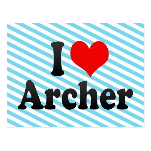 Amo Archer Tarjetas Postales