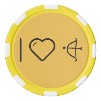 Amo arcos de los Cupids Juego De Fichas De Póquer