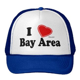 Amo área de la bahía gorros bordados