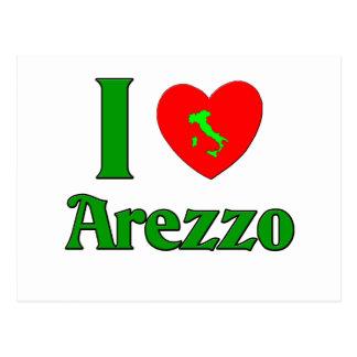 Amo Arezzo Italia Tarjeta Postal