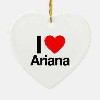 amo ariana adorno de navidad