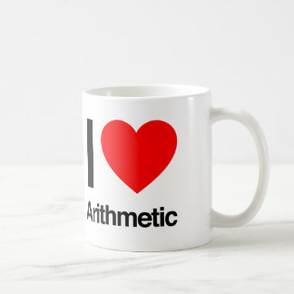 amo aritmética taza