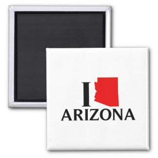 Amo Arizona - amor AZ de I Imán Cuadrado