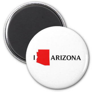 Amo Arizona - amor AZ de I Imán Redondo 5 Cm