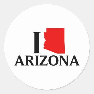 Amo Arizona - amor AZ de I Pegatina Redonda