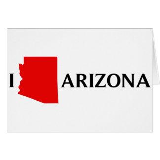 Amo Arizona - amor AZ de I Tarjeta De Felicitación