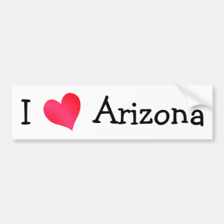 Amo Arizona Pegatina De Parachoque