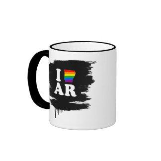 AMO ARKANSAS GAY -- BLANCO - .png Taza A Dos Colores