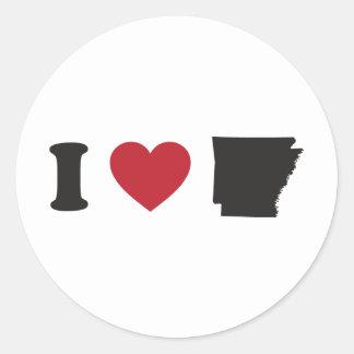 Amo Arkansas Pegatina Redonda