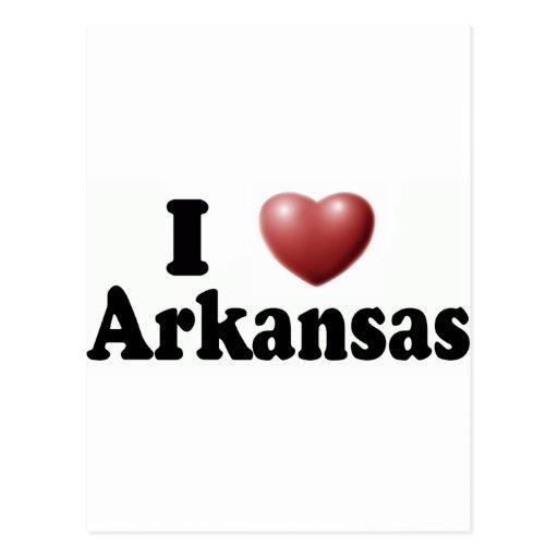 Amo Arkansas Tarjeta Postal