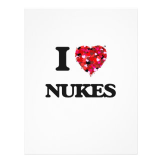 "Amo armas nucleares folleto 8.5"" x 11"""