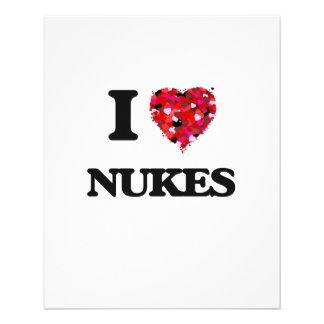 "Amo armas nucleares folleto 4.5"" x 5.6"""