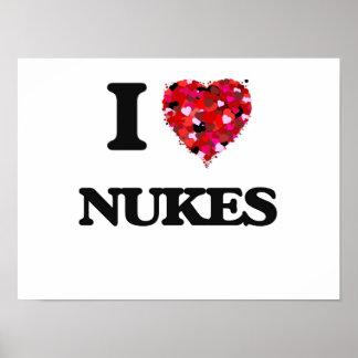 Amo armas nucleares póster