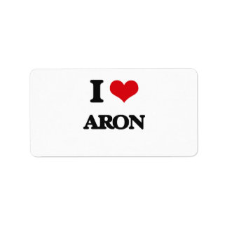 Amo Aron Etiqueta De Dirección