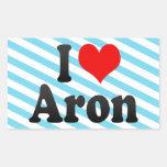 Amo Aron Pegatina Rectangular