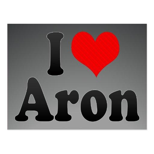 Amo Aron Tarjeta Postal