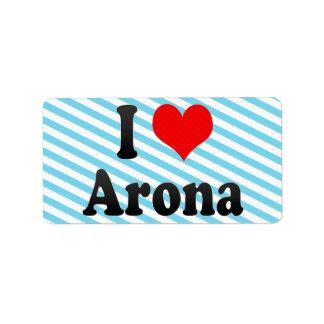 Amo Arona, España Etiqueta De Dirección