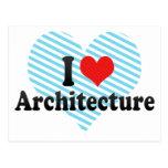 Amo arquitectura tarjetas postales