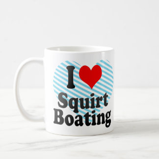Amo arrojo a chorros canotaje tazas de café