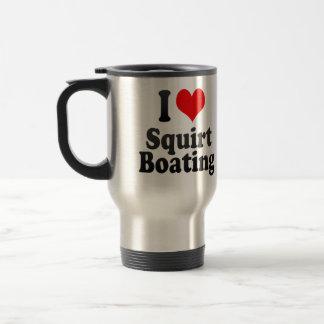 Amo arrojo a chorros canotaje taza de café
