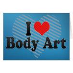 Amo arte de cuerpo felicitacion