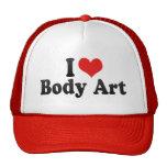 Amo arte de cuerpo gorra