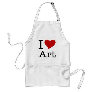 Amo arte del corazón de I Delantal