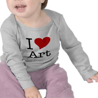Amo (arte del corazón de I) Camisetas