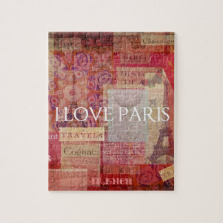 Amo ARTE del VINTAGE de París Rompecabezas