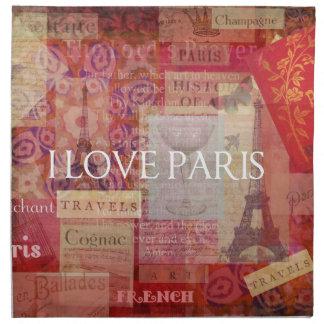 Amo ARTE del VINTAGE de París Servilletas De Papel
