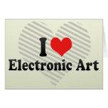 Amo arte electrónico felicitación