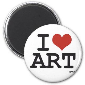 Amo arte imán redondo 5 cm