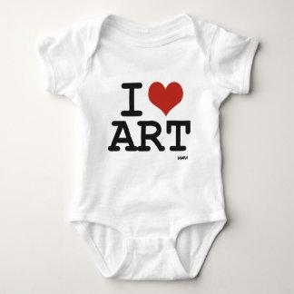 Amo arte mameluco de bebé