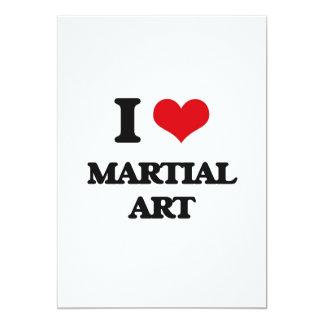 Amo arte marcial invitación 12,7 x 17,8 cm
